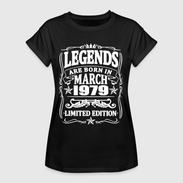 Legends are born in march 1979 - Women's Oversize T-Shirt