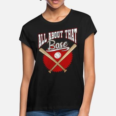 Baseball Baseball baseball player baseball bat - Oversize T-shirt dame