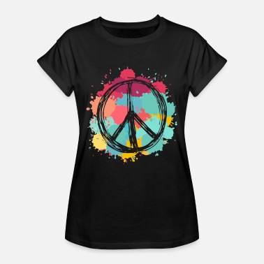 Love Dove Generation Peace Sign | Peace life society flowers - Women's Oversize T-Shirt