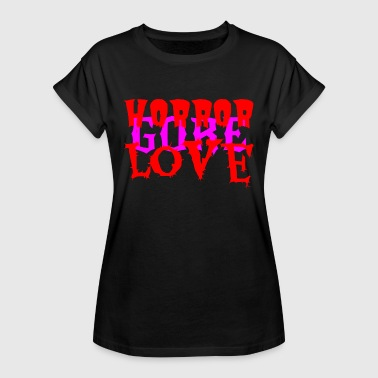 Horror Gore Love Pink - Dame oversize T-shirt