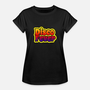 Disco Fever Disco Fever 1970s Color Fade Disco Funk Vintage - Women's Oversize T-Shirt