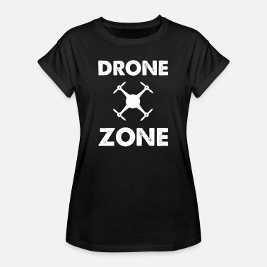 Zone Drone zone drone piloot drones gift - Vrouwen oversize T-shirt