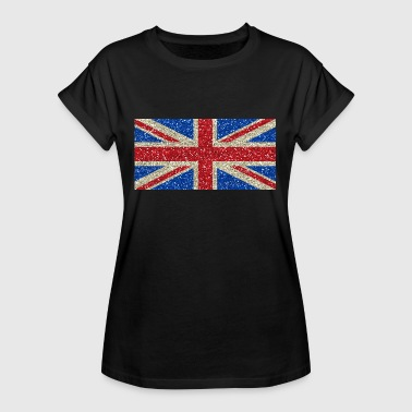 Glitz Great Britain flag flag Glitz homeland pride - Women's Oversize T-Shirt