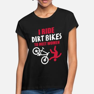 Bike Biker Dirt Bike Downhill Bike - Oversize T-shirt dame