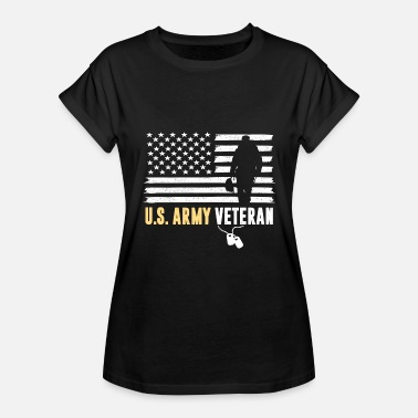 Hærforlovet US ARMY VETERAN AMERICAN FLAG SOLDIER GIFTS - Dame oversize T-shirt
