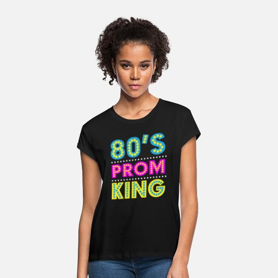 Party T-Shirts - Eighties Prom King - Women's Loose Fit T-Shirt black