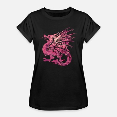 Fairy Tail Dragon Geometric dragon dragon fairy tale fantasy gift - Women's Oversize T-Shirt