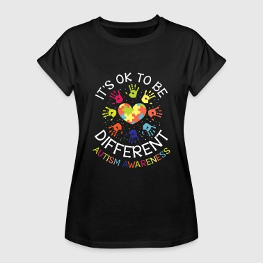 Autisme It's ok to be different - Autism Awareness - Dame oversize T-shirt