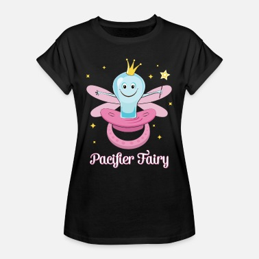 Baby Girl Fairy Paci Fairy Pacifier Fairy Illustration For Girls - Women's Oversize T-Shirt