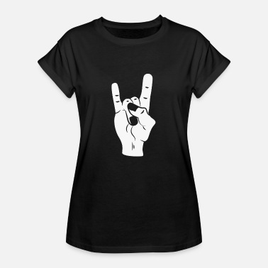Devil Horns Rock On Devil Horns - Naisten oversized-t-paita