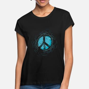 Global Peace Global Peace Peace Sign War Peace Sign - Women's Loose Fit T-Shirt