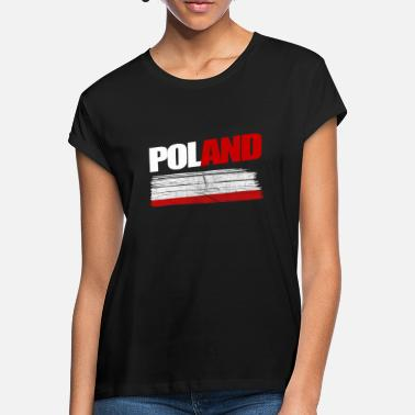 Poland Poland Country Map Nation Poland - Women's Loose Fit T-Shirt