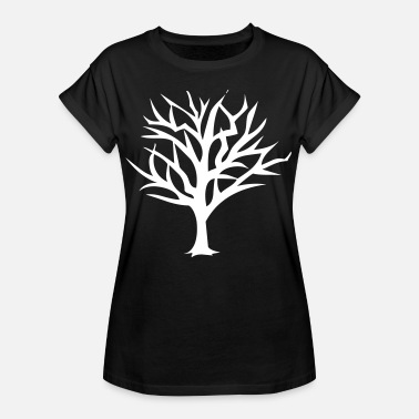 Tree Branch Tree Trees Branch Branches Horror Scary Halloween - Women's Oversize T-Shirt
