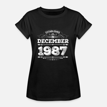 December 1987 Established in December 1987 - Women's Oversize T-Shirt