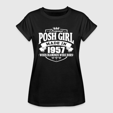 Made 1957 Posh girl made in 1957 - Women's Oversize T-Shirt