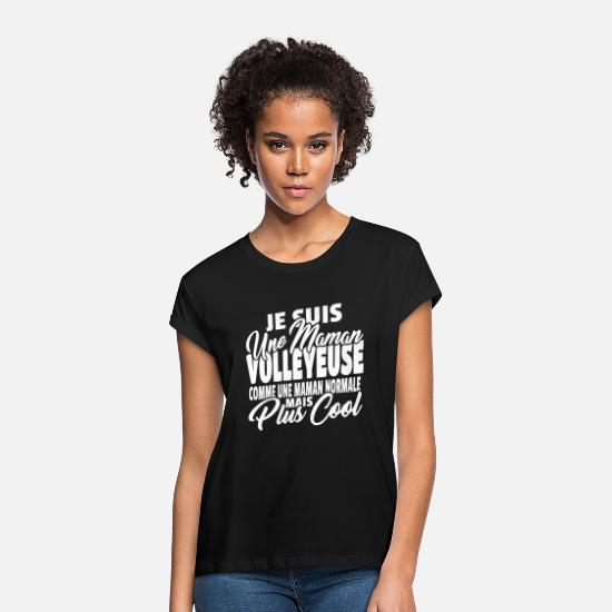 Volley T-shirts - Maman volleyeuse mais plus cool - T-shirt oversize Femme noir