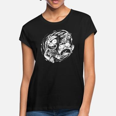 508aa3a6d5d Men s T-Shirt. Cat Girl. from £16.99. Rick And Morty Time Warp Travels -  Women  39 s Loose Fit ...