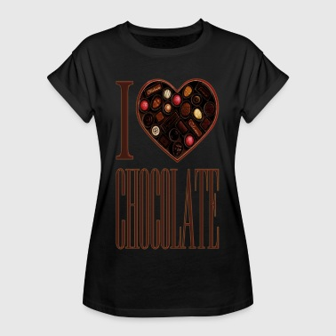 I Love Chocolate - Women's Oversize T-Shirt