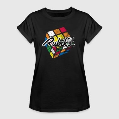 Rubik's Cube Colourful Retro Magic Cube - Women's Oversize T-Shirt