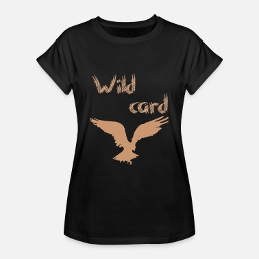 Grif Wild card flying eagle eller griffin bird feathers - Dame oversize T-shirt