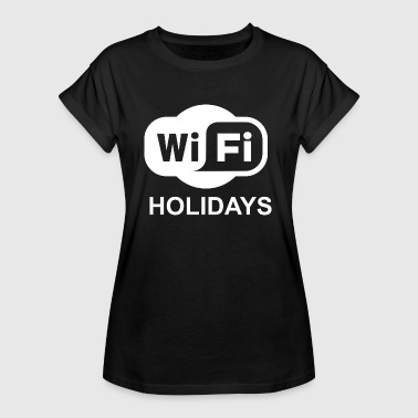 WIFI WLAN mobile phone mobile smartphone tablet gift - Women's Oversize T-Shirt