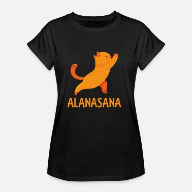 Practice Cool Alanasana Yoga Cat Gifts for family & friends - Women's Oversize T-Shirt