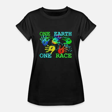 Antiracismo Camiseta Anti Racismo - One Earth One - Camiseta holgada de mujer