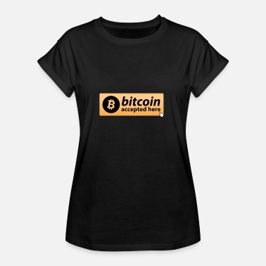 Mousepad BITCOIN ACCEPTED HERE MOUSEPAD CRYPTO - Women's Oversize T-Shirt