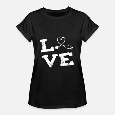 Medical Profession Docteur Profession médicale amour cadeau - T-shirt oversize Femme