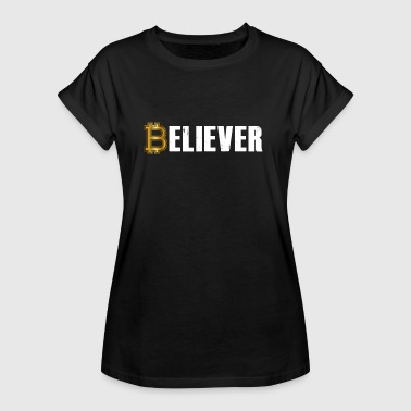 Believer Bitcoin Crypto Currency T shirt - Camiseta holgada de mujer
