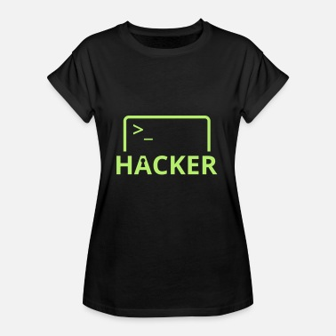 Hack Hacker Internet Computer Science hacken computer science - Vrouwen oversize T-shirt