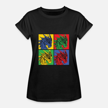 Knights Dragon Popart - Women's Oversize T-Shirt