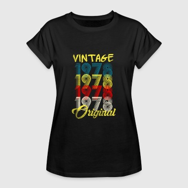 40th birthday t shirt vintage 1978 gift - Women's Oversize T-Shirt