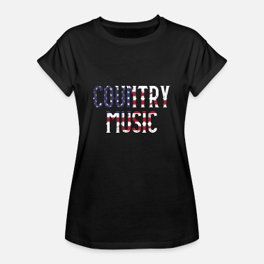 Linedance COUNTRY MUSIC Amerika VS - Vrouwen oversize T-shirt