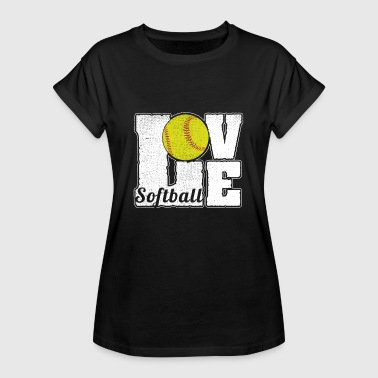 SOFTBALL LOVE - Women's Oversize T-Shirt