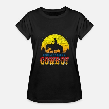 Wild Cowboy Wild West USA Horse Country Music - Vrouwen oversize T-shirt
