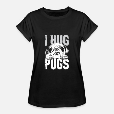 Hug I Hug Pugs - Dog Design - Women's Oversize T-Shirt
