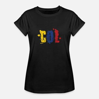 Country Abbreviation Colombia splashes of paint gift holiday backpacker - Women's Oversize T-Shirt