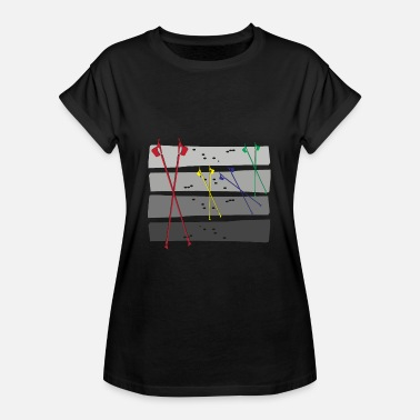 Nordic Walking Comic Rainbow Nordic Walking - Frauen Oversize T-Shirt