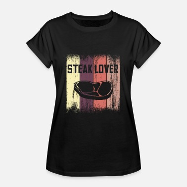 Filet Steak Lover Vintage Design - Vrouwen oversize T-shirt