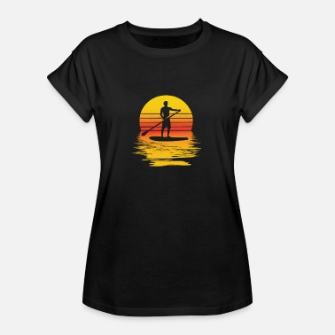 Stand SUP Stand Up Paddle Board at sunset - Women's Oversize T-Shirt