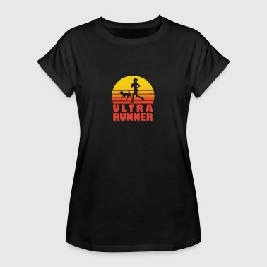 Ultrarunning Ultra Runner Jogging Woman Jogger Runner Dog - Women's Oversize T-Shirt