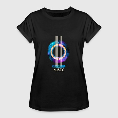 MUSIC GUITAR I bassist and guitarist gift - Women's Oversize T-Shirt