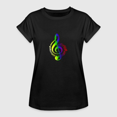 Colorful clef music notes musician - Women's Oversize T-Shirt