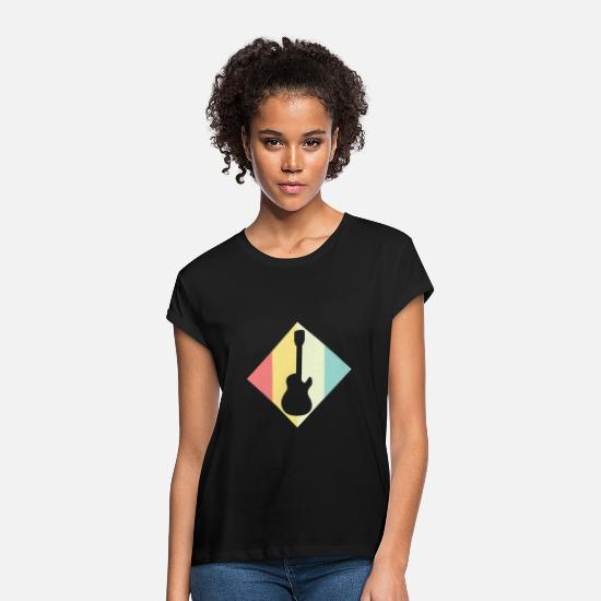 Gift Idea T-Shirts - Electric guitar - Women's Loose Fit T-Shirt black