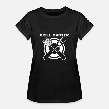 Instructeur Du Barbecue Barbecue Grillmeister Barbecue Barbecue Barbecue - T-shirt oversize Femme