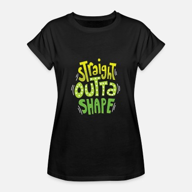 Orgie Sraight out of Shape I Sofa Lover Fitness T-Shirt - Oversize-T-shirt dam