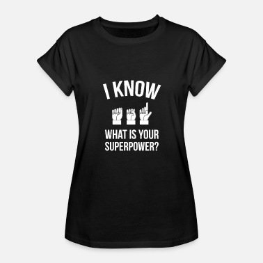 Sign Language ASL Sign Language Sign Language - Women's Oversize T-Shirt