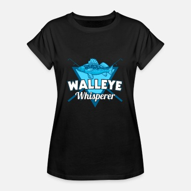 Walleye Fishing Angler fish fishing fishing walleye gift - Women's Oversize T-Shirt
