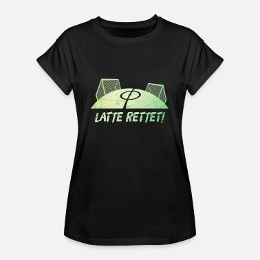 Football Pitch Latte saves football pitch rules - Women's Oversize T-Shirt